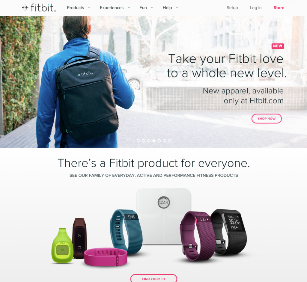 Fitbit Website Design